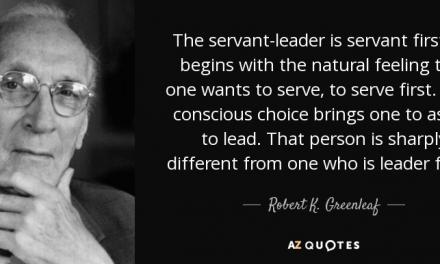 De dienaar als leider