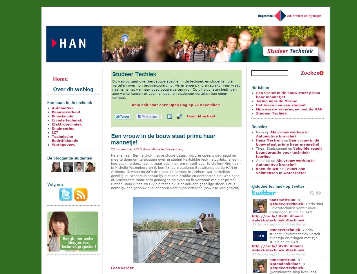 Nieuwe blog Studeer Techniek live!