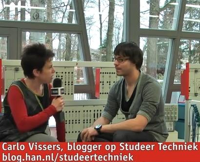 Videoblog: Carlo Vissers 1e jaars HAN Elektrotechniek blogt op Studeer Techniek