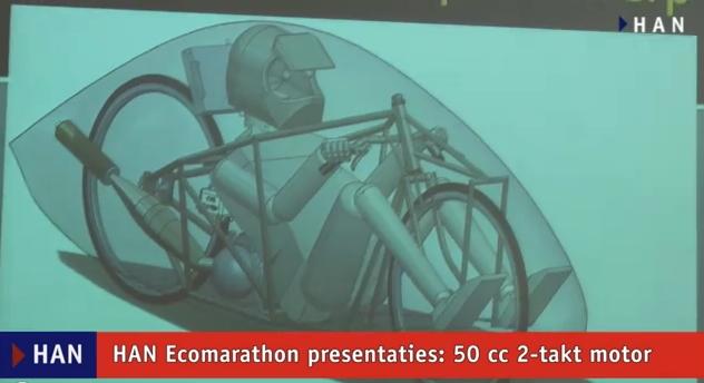 Videoblog: Erwin en Dennis over HAN Ecomarathon voertuig met 2 takt motor