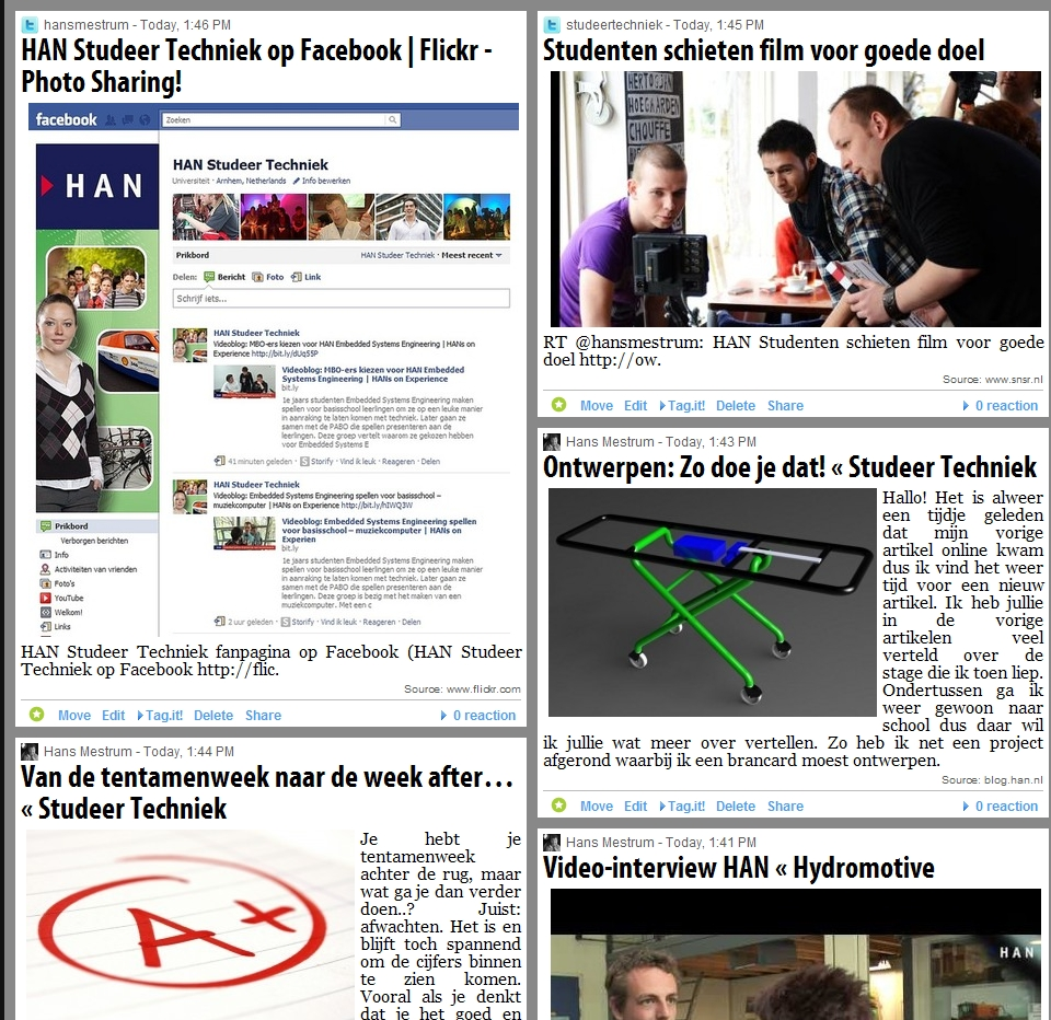 HAN Studeer Techniek met nieuwe social media kanalen: doe mee!