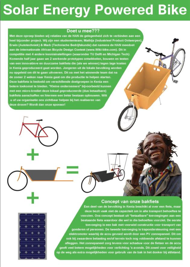 HAN Wikibike: duurzame transportbakfiets voor ontwikkelingslanden