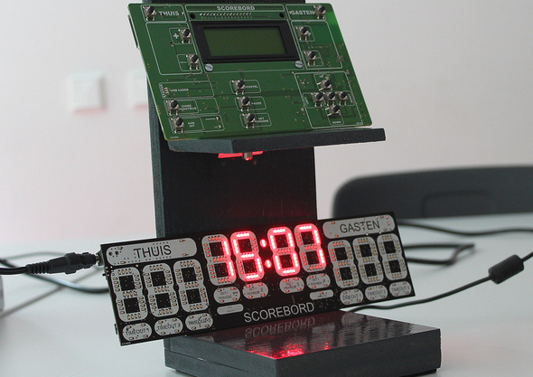 Fotoblog: project scorebord HAN Embedded Systems Engineering