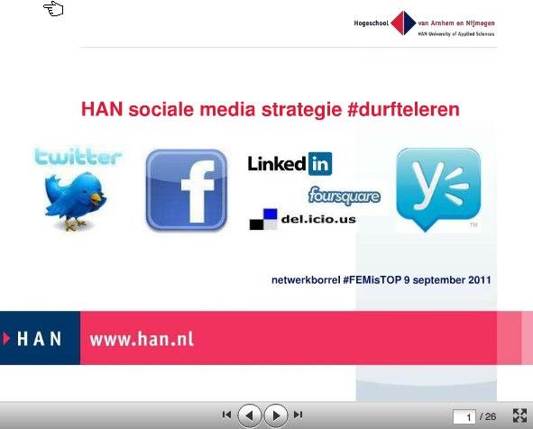 Presentatie #FEMisTOP netwerkborrel