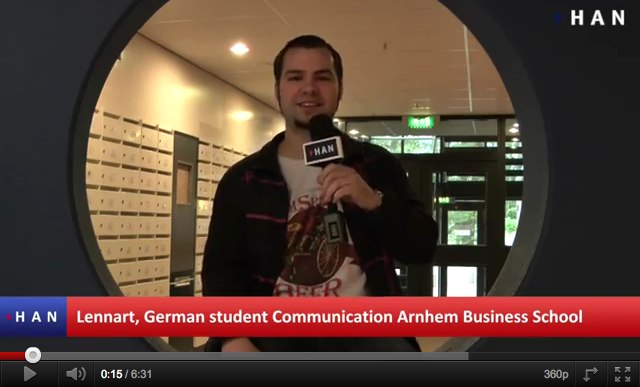 Videoblog: Dutch and German student studying at Arnhem Business School