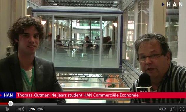 Videoblog: Thomas Klutman 4e jaars student over HAN Commerciele Economie