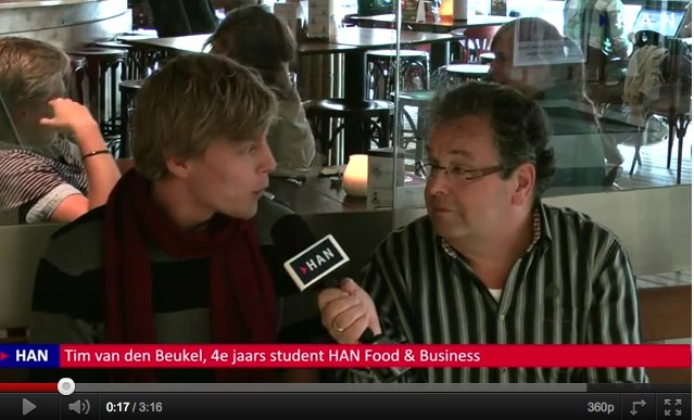 Videoblog: Tim van den Beukel 4e jaars student over opleiding HAN Food & Business