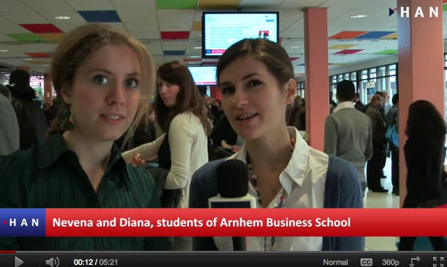 Videoblog: Open Day Arnhem Business School / HAN EMR