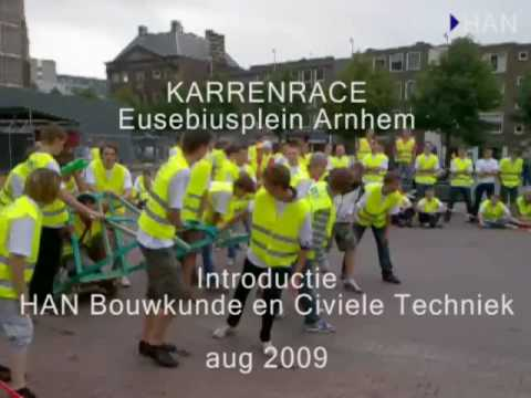 Videoblog: Karrenrace HAN Bouwkunde en Civiele Techniek