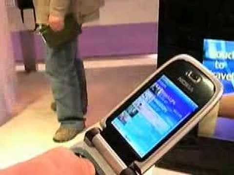 Nokia 6131 telephone with an RFID/NFC chip: great demo!