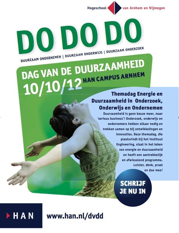 10 oktober Dag van de Duurzaamheid op de HAN Campus Arnhem