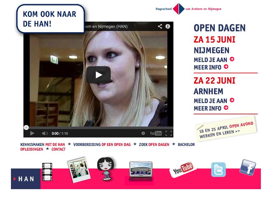 Storify #opendagHAN Arnhem 16 maart