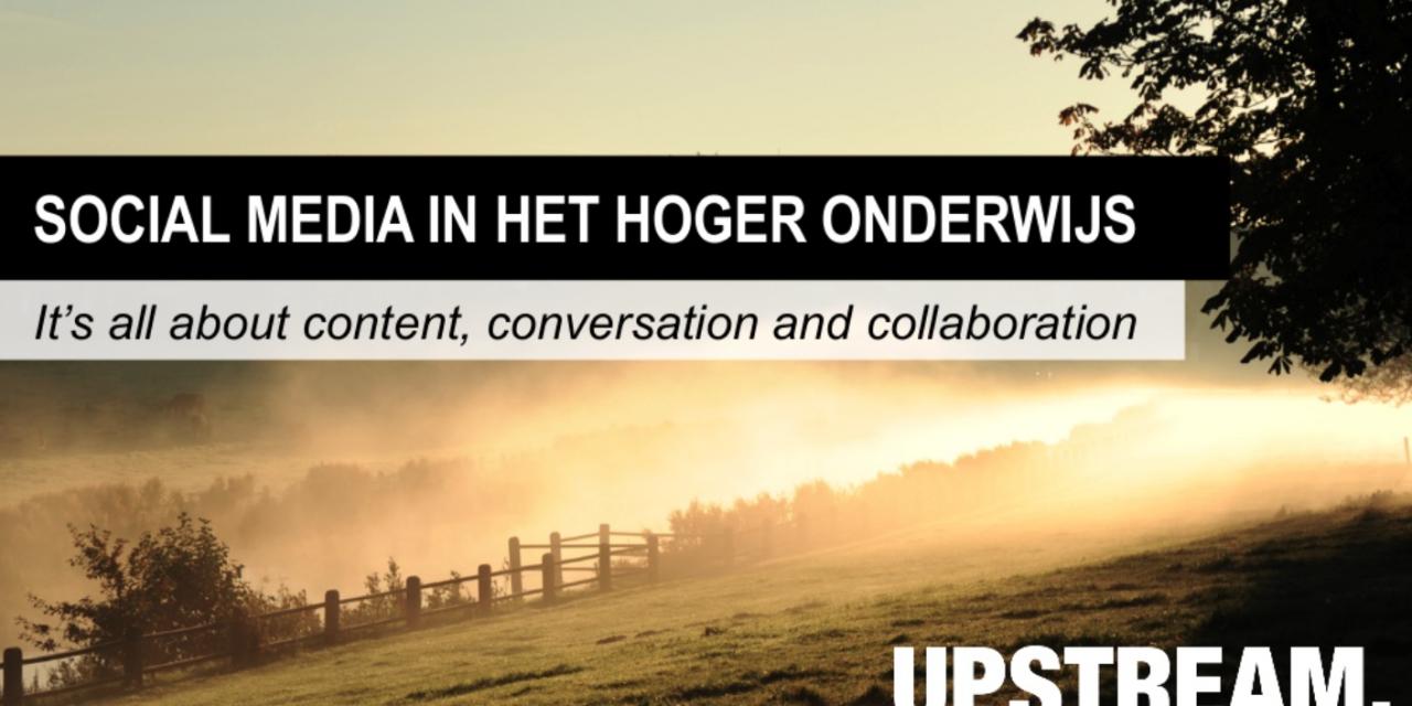 Presentatie Social Media in het Hoger Onderwijs