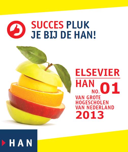 HAN no. 1 van grote hogescholen 2013 – Elsevier