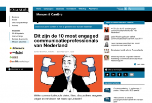 Most Engaged Communicatieprofessional van Nederland op LinkedIn
