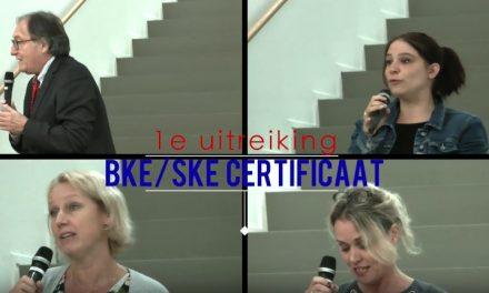 Videoblog: Uitreiking BKE/SKE certificaten