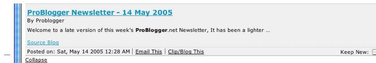 Gmail in bloglines