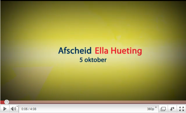 Videoblog: Impressie afscheid Ella Hueting