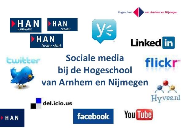 Presentatie Social Media bij de Hogeschool van Arnhem en Nijmegen