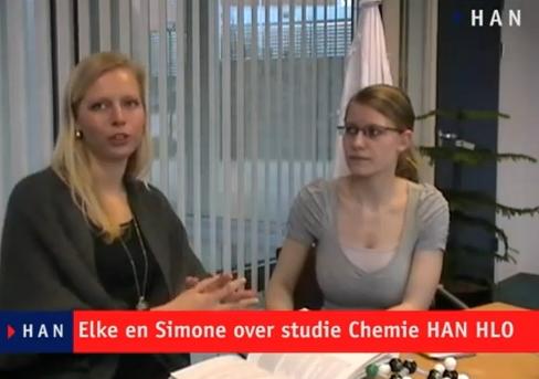 Videoblog: Simone en Elke over de opleiding Chemie van HAN HLO