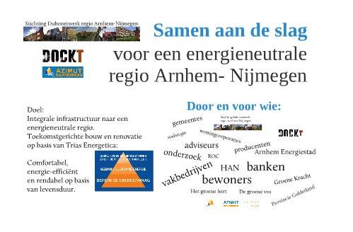 Uitnodiging bijeenkomst Samen aan de slag! Duurzaam bouwen, renoveren en beheer in de regio Arnhem-Nijmegen