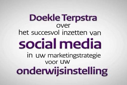Social media in het onderwijs volgens Doekle Terpstra