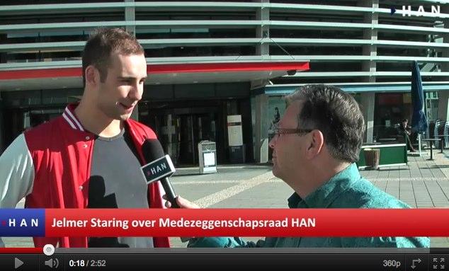 Videoblog: Jelmer Staring over HAN Medezeggenschapsraad