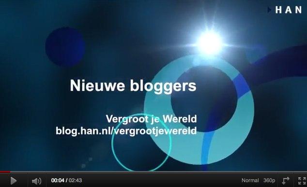 Videoblog: Tim, Thomas en Chiel bloggers op HAN EMR blog Vergroot je Wereld