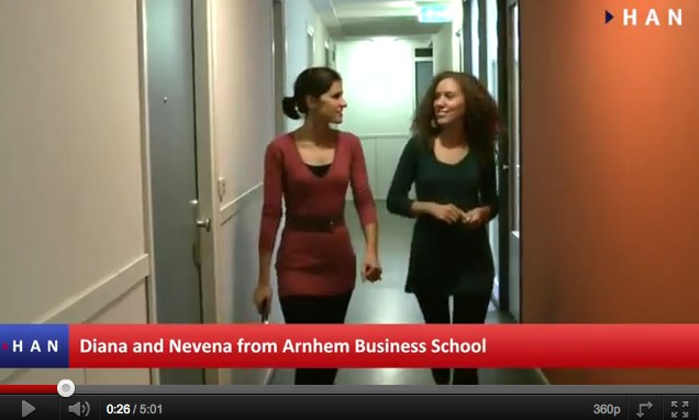Videoblog: Two Bulgarian students of HAN Arnhem Business School living in Arnhem