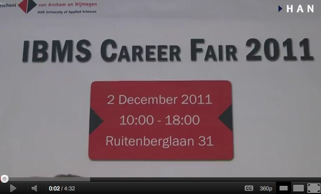 Videoblog: Introducing the IBMS career fair 2011