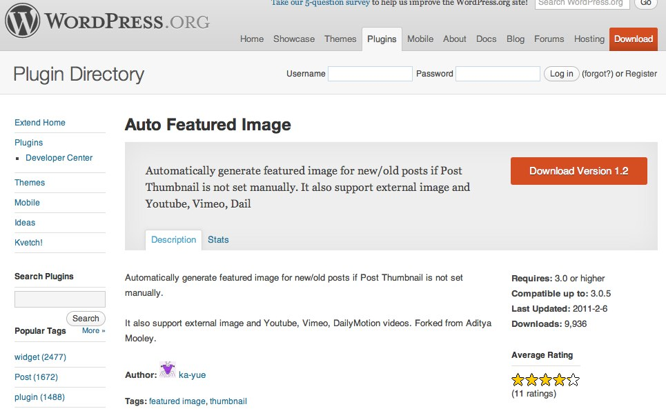 Test met Auto Featured Image plugin