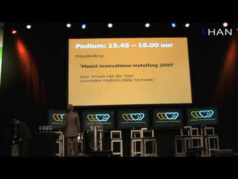 """Videoblog: uitreiking prijs """"Meest innovatieve instelling 2009"""" aan de HAN"""