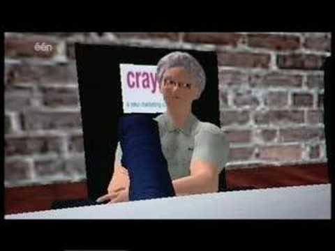 Miel en Clo in Second Life op Belgische TV
