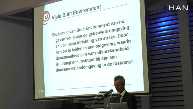 Videoblog: uitreiking duurzame sterren Built Environment – Visie op duurzaam onderwijs Rene Tonissen