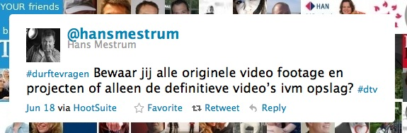 Bewaar jij alle video footage en projecten? #durftevragen