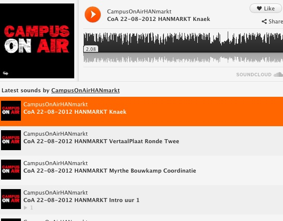 Campus on Air op #HANintro markt