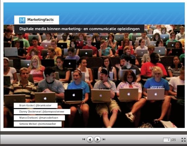 Onderzoek: Hoe staat het met de integratie van digitale media binnen de marketing- en communicatie-opleidingen in Nederland?